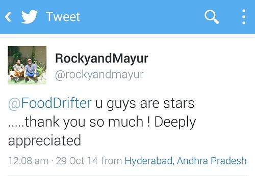 Rocky And Mayur Tweet