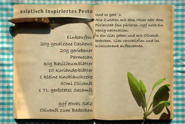 Einkaufszettel asiatisches Pesto by Glasgeflüster