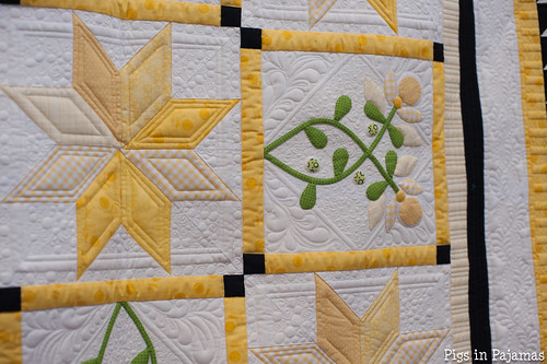 Loved the detail on this quilt at the Handiquilter booth