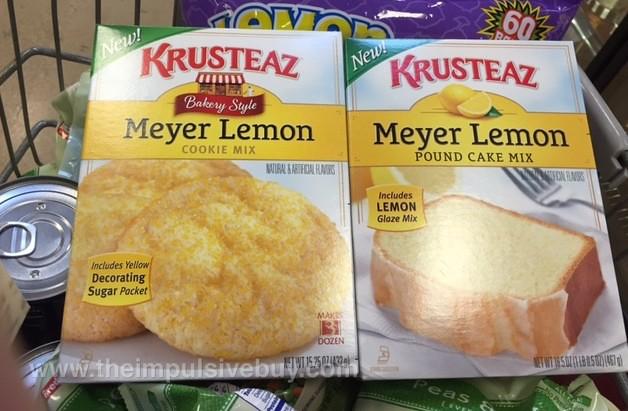 Krusteaz Bakery Style Meyer Lemon Cookie Mix and Meyer Lemon Pound Cake Mix