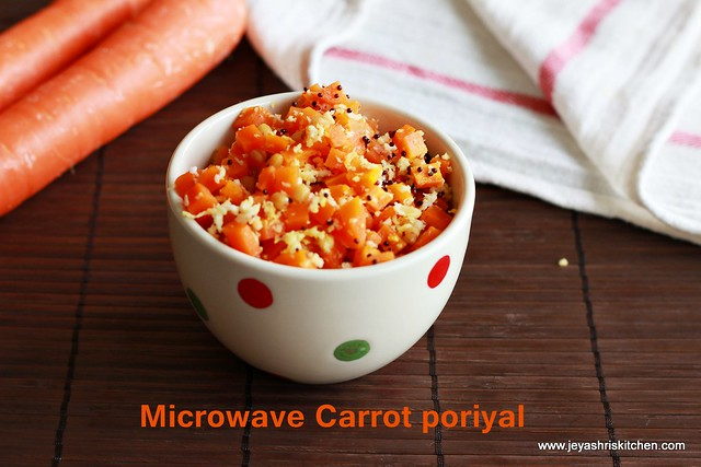 Carrot -poriyal
