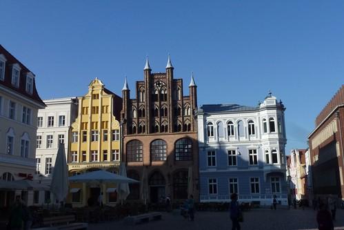 Alter Markt Stralsund med Das Wulflamhaus