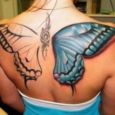 Butterfly Wings Tattoo On Back