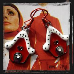 orecchini rossi - red earrings INCASRO