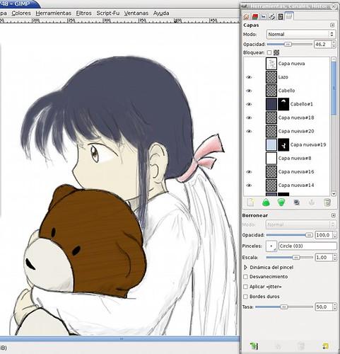 Trabajando el rostro de Yuuki