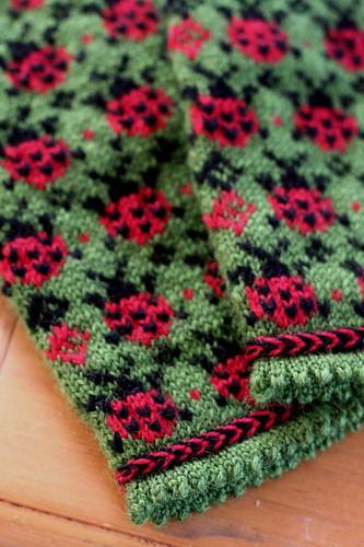 Ladybug Picnic Mittens