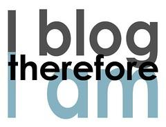 I blog...