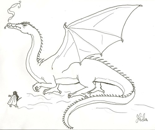 Smaug Dragon Coloring Pages Coloring Pages