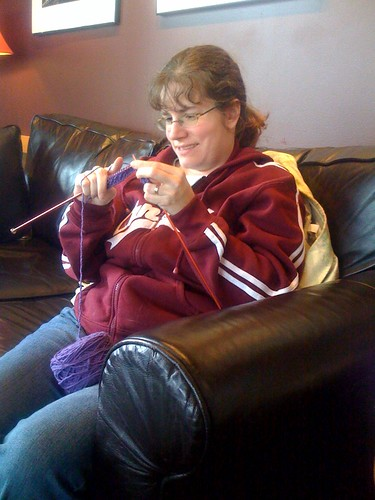 Knitting at Starbucks