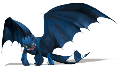 Night Fury - the lead dragon in the film and also my favourite