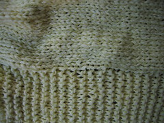 close-up of stitches