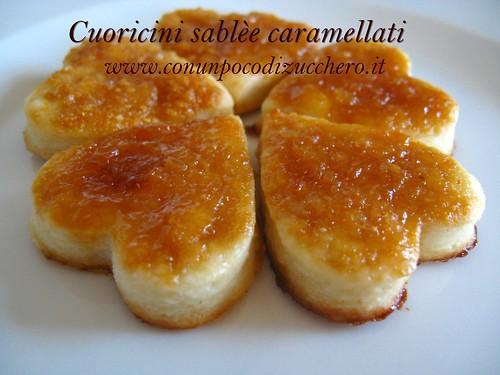 Cuoricini sablèe caramellati