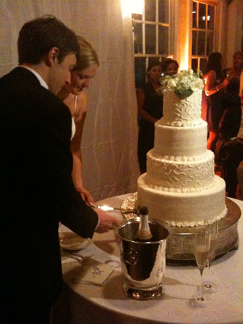 Andrew, Leigh and their cake