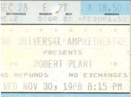 Robert Plant, Universal Ampitheatre