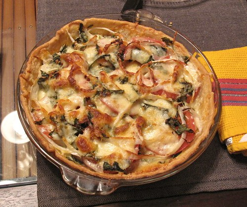 tomato, onion and cheese pie