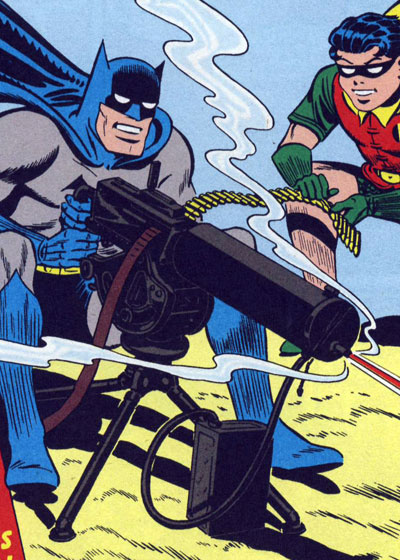 No worries.  It's shooting Batarangs.