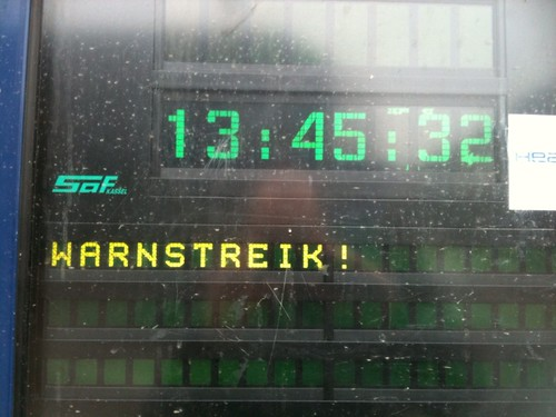 Warnstreik in Darmstadt