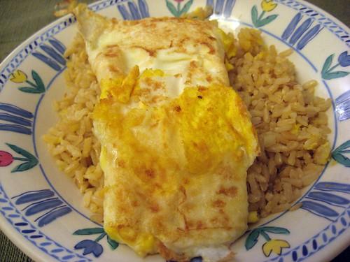 Sinangag (with egg on top)...