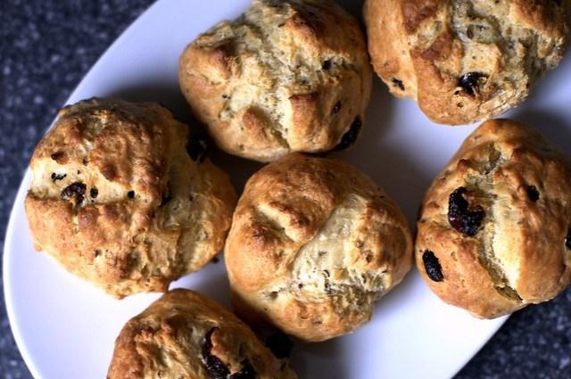 butter-brushed soda bread scones