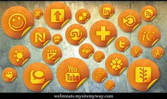 Free Social Media Networking Icons - 154 Orang...