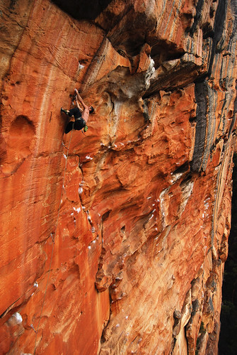 "Me on ""The Invisable Fist"" 26 Taipan Wall, Grampians"
