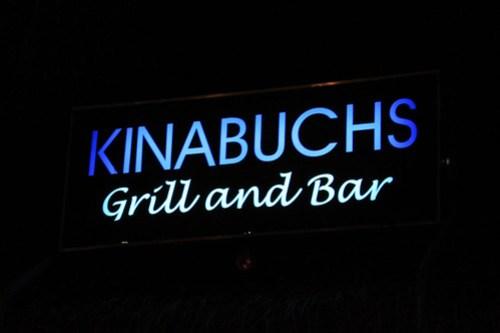 Kinabuchs Grill and Bar signage