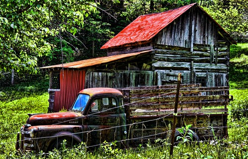 The Old Dodge and Barn