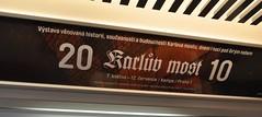 Výstava Karlův most 2010 - reklama ve vozu metra