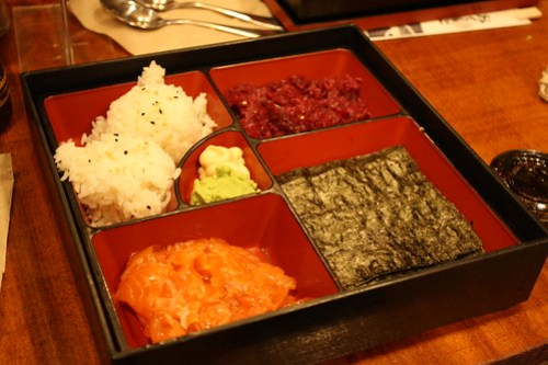 Teaism - Tea Cured Salmon Handroll Bento Box