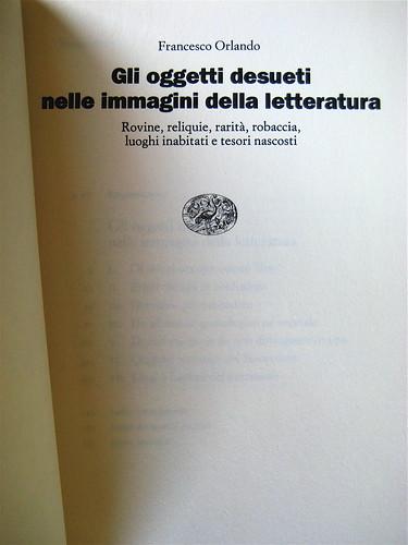 francesco orlando, gli oggetti desueti nelle immagini della letteratura, einaudi, 1993, frontespizio, 2