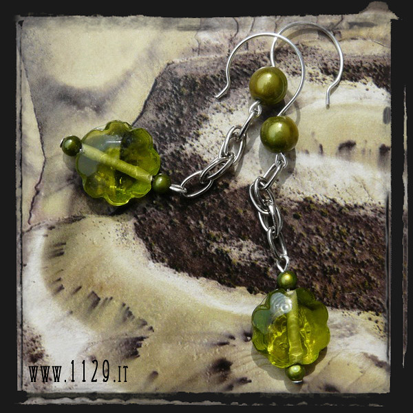 LEVEMA orecchini verdi - green earrings 1129