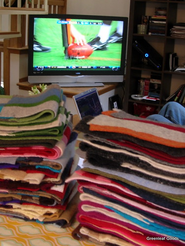 Sunday = scarves + lots of football