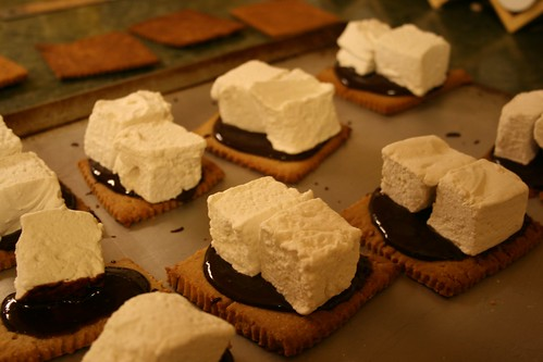 Citified s'mores, ready for the oven