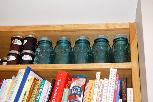 mason jars Jason got me for Christmas