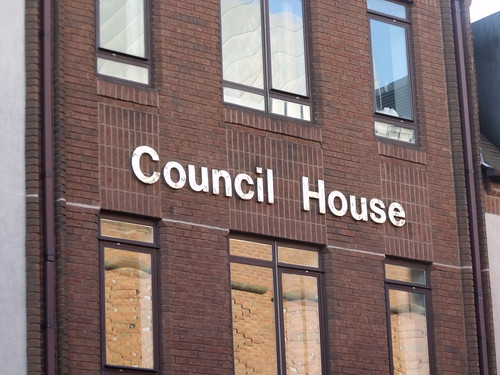 Council House, Solihull - sign