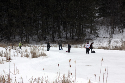 Winter Party on the Pond