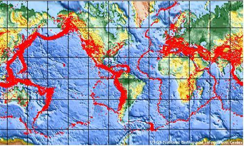 World Seismic Activity Map