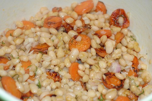 white bean and carrot salad