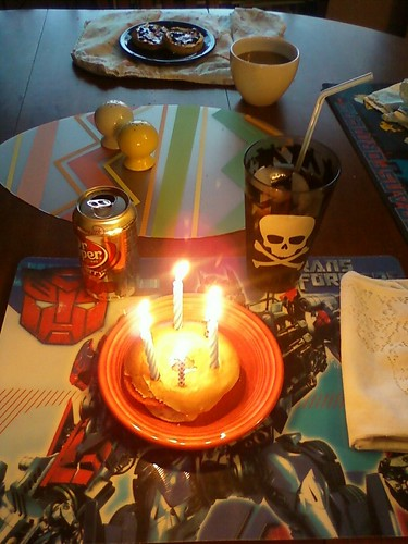 Jim's birthday bagel