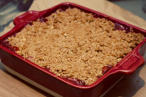 Strawberry Rhubarb Double Crisp