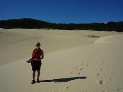Sarah auf Fraser Island