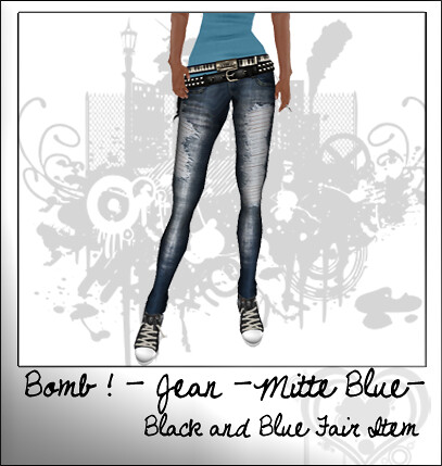 bomb jeans mitte blue