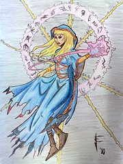 Pencil Coloured Witch
