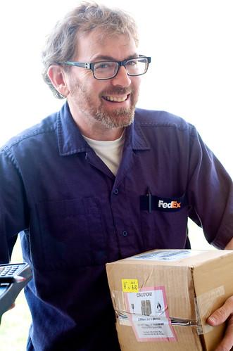 Happy FedEx guy