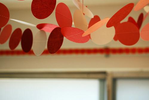 Paper circle garland.