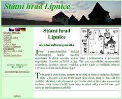 Starý web hradu Lipnice