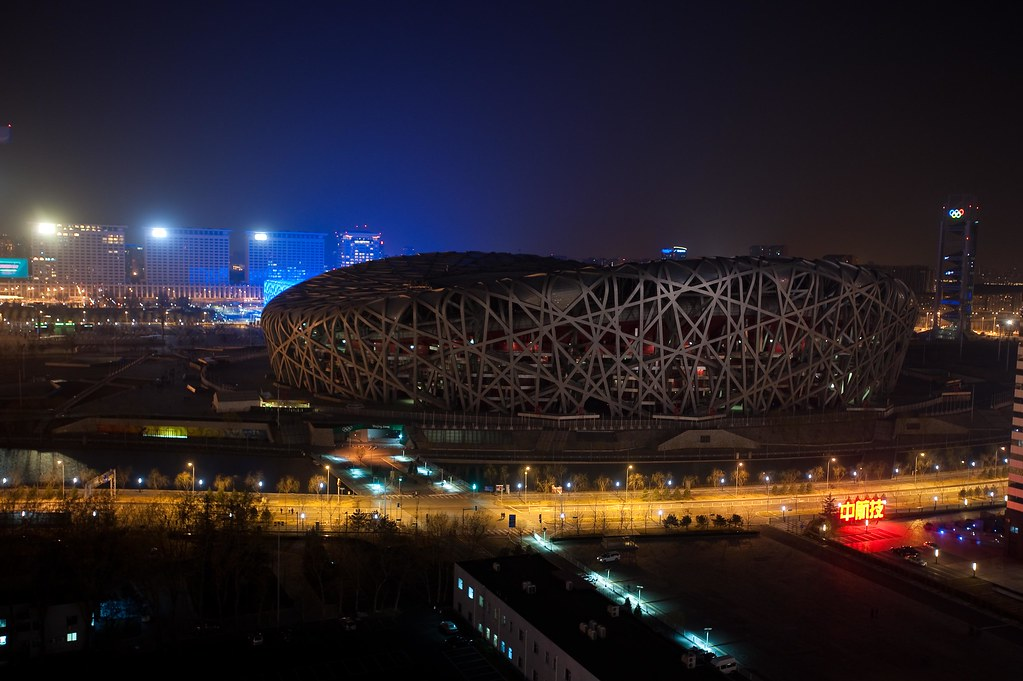 The Bird's Nest In China During Earth Hour