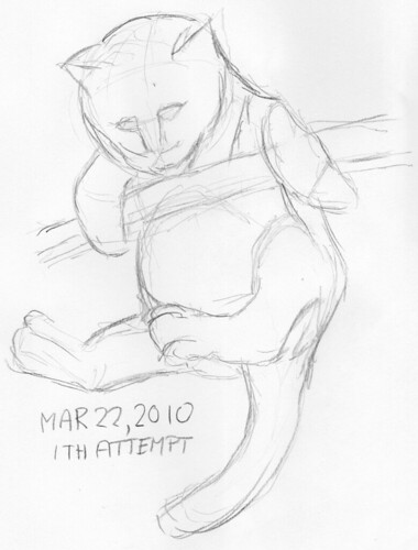 Warm-up sketch for March 22, 2010