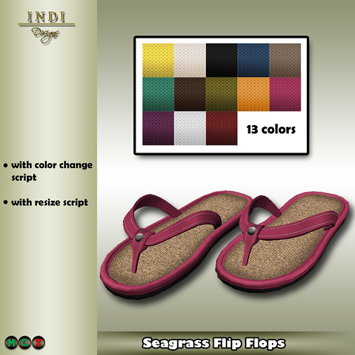 Summer Breeze 2 (Seagrass Flip Flops) f