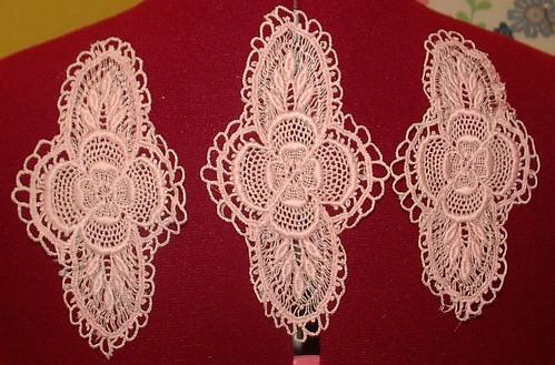machine made lace medallion